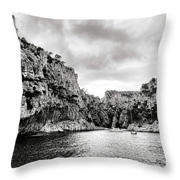 Calanque D'en Vau Throw Pillow by Olivier Le Queinec