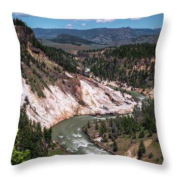 Calcite Springs Overlook  Throw Pillow