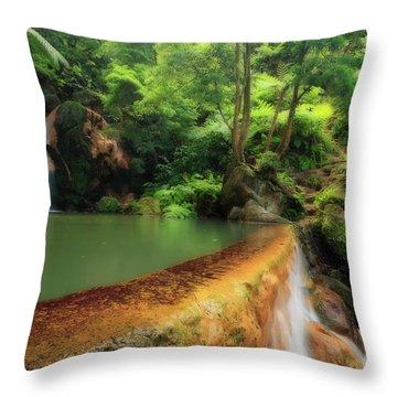 Caldeira Velha - Azores Islands Throw Pillow by Gaspar Avila