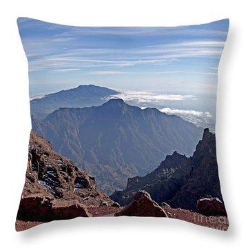 Caldera De Taburiente-1 Throw Pillow