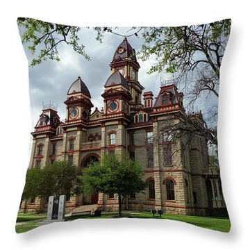 Caldwell County Courthouse Throw Pillow