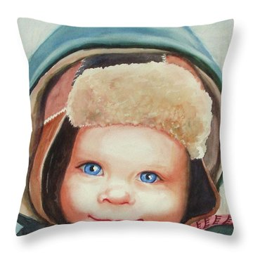Caleb Throw Pillow by Marilyn Jacobson