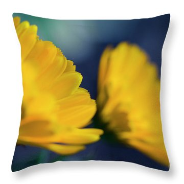 Throw Pillow featuring the photograph Calendula Flowers by Sharon Mau