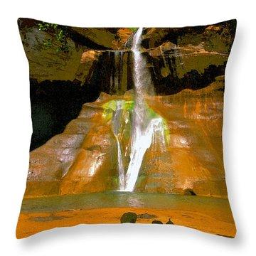 Calf Creek Falls Utah Throw Pillow