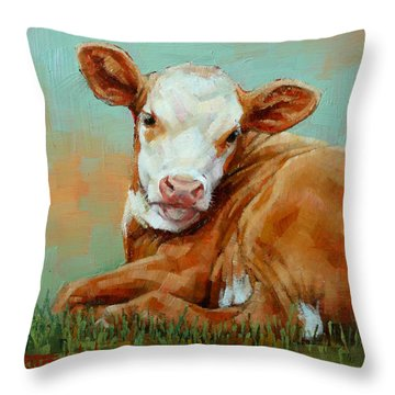 Calf Resting Throw Pillow