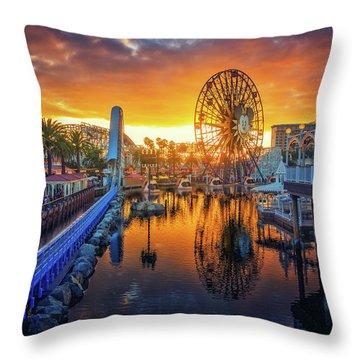 Calfornia Sunset Throw Pillow