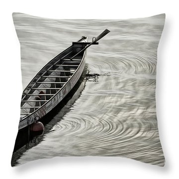 Calgary Dragon Boat Throw Pillow