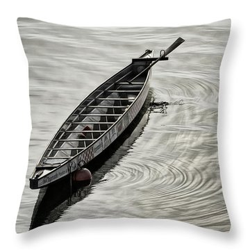 Calgary Dragon Boat Throw Pillow