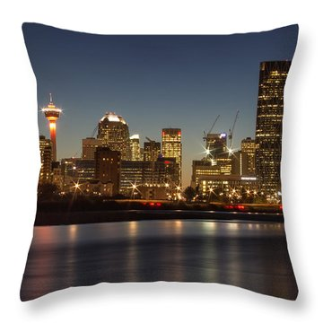 Calgary Lights Throw Pillow