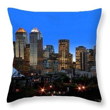 Calgarys Skyline Throw Pillow by Richard Wear