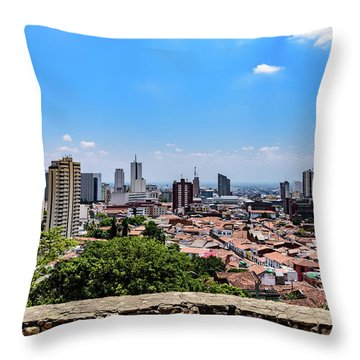 Cali Skyline Throw Pillow