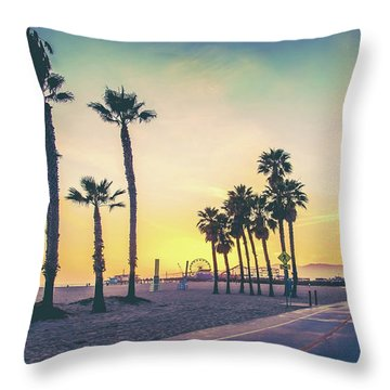 Cali Sunset Throw Pillow