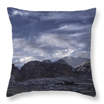 Throw Pillow featuring the photograph Calico Basin Panorama by Ryan Smith