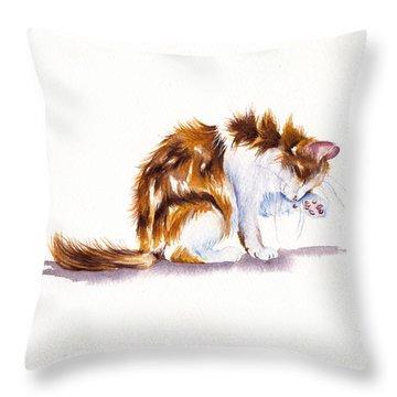 Calico Cat Washing Throw Pillow