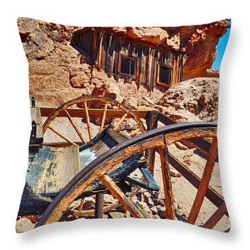 Calico Ghost Town Mine Throw Pillow
