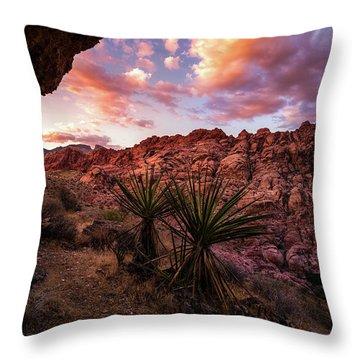 Calico Sunset Throw Pillow