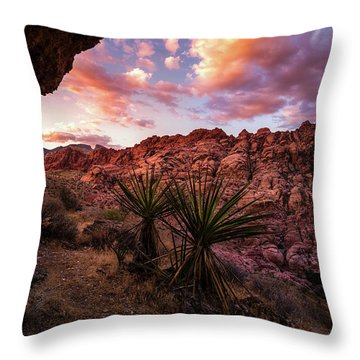 Calico Sunset Throw Pillow