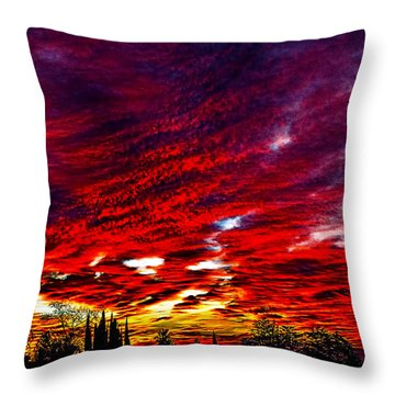 Throw Pillow featuring the photograph Sunrise In Los Angeles by Renee Anderson