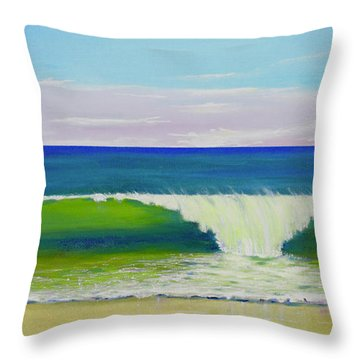 Throw Pillow featuring the painting Califia Beach by Mary Scott