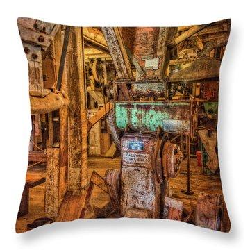 California Pellet Mill Co Throw Pillow