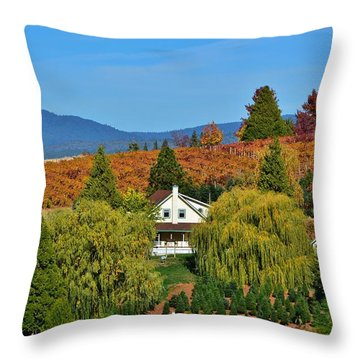California Apple Hill Throw Pillow