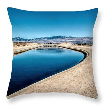 California Aqueduct At Fairmont Throw Pillow