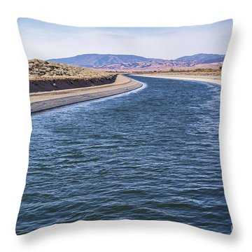 California Aqueduct S Curves Throw Pillow