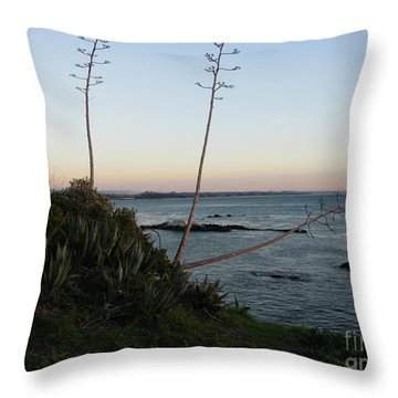 California At Twilight Throw Pillow by Mini Arora