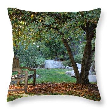 California Autumn Throw Pillow by Jan Cipolla