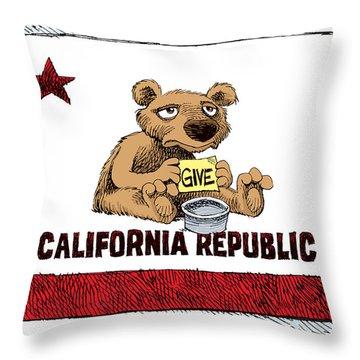 California Budget Begging Throw Pillow