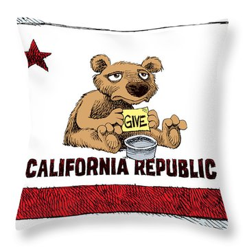 California Budget Begging Throw Pillow