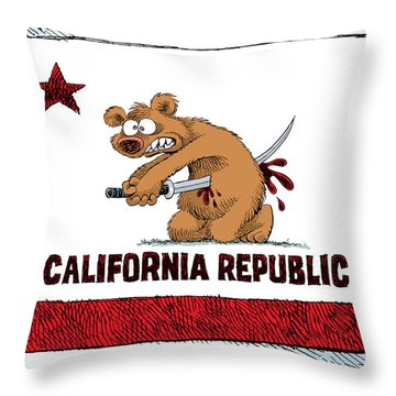 California Budget Harakiri Throw Pillow