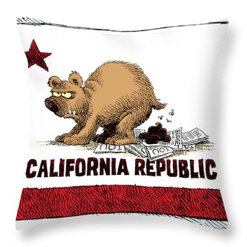 California Budget Iou Throw Pillow