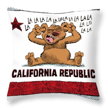 California Budget La La La Throw Pillow