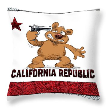 California Budget Suicide Throw Pillow