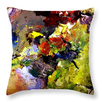 Throw Pillow featuring the painting California Chjroma by Charlie Spear