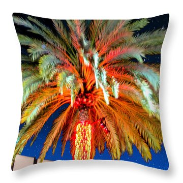 California Christmas Tree Throw Pillow by Robert Hebert