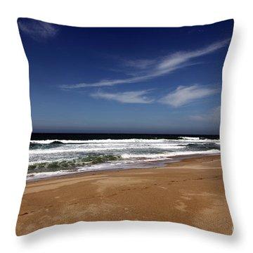 California Coast Throw Pillow by Amanda Barcon