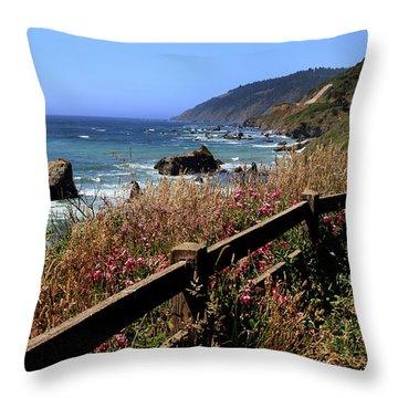 California Coast Throw Pillow by Joseph G Holland