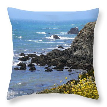 California Coast Throw Pillow by Laurel Powell