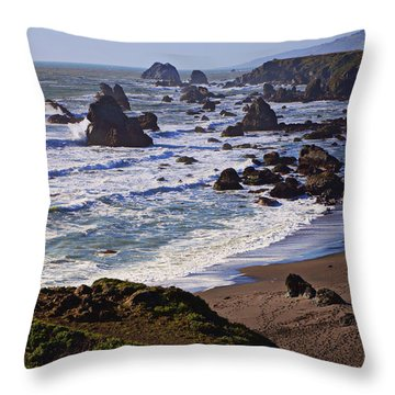 California Coast Sonoma Throw Pillow by Garry Gay