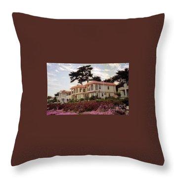 California Coastal Hotel Throw Pillow