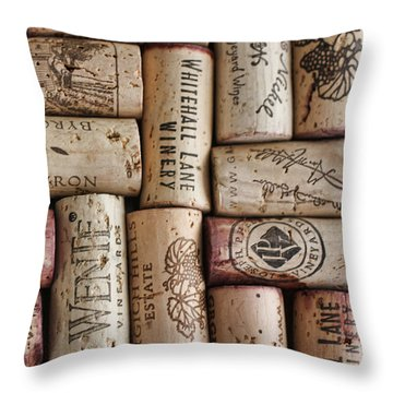 Throw Pillow featuring the photograph California Corks by Nancy Ingersoll
