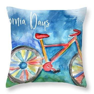 California Days - Art By Linda Woods Throw Pillow