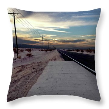 California Desert Highway Throw Pillow by Christopher Woods