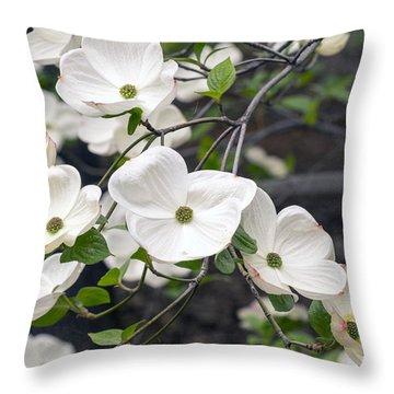 California Dogwood Throw Pillow