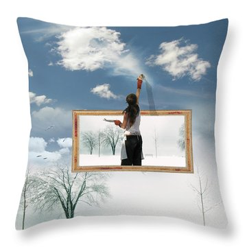 California Dreaming Throw Pillow by John Poon