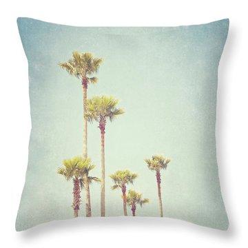 California Dreaming - Palm Tree Print Throw Pillow