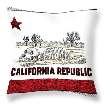 California Drought Throw Pillow