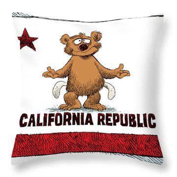 California Empty Pockets Throw Pillow